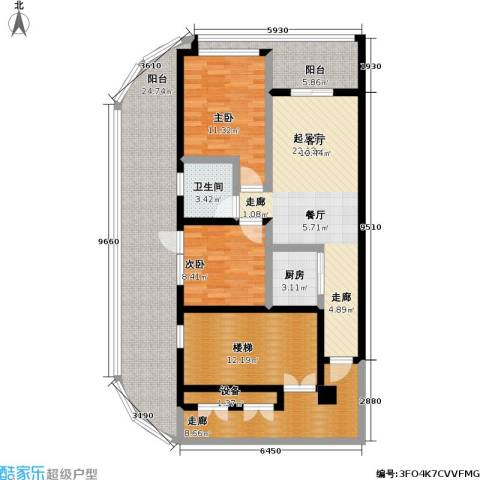 东方・山海湾2室0厅1卫1厨101.21㎡户型图