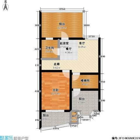 良城美景家园1室0厅1卫0厨135.00㎡户型图
