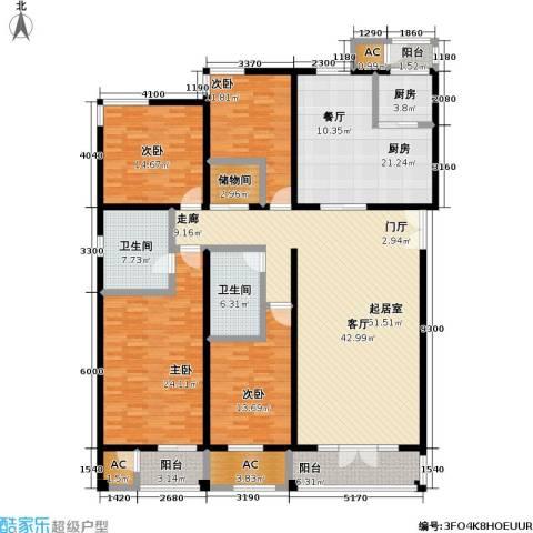 海开天秀花园二期4室0厅2卫2厨203.00㎡户型图