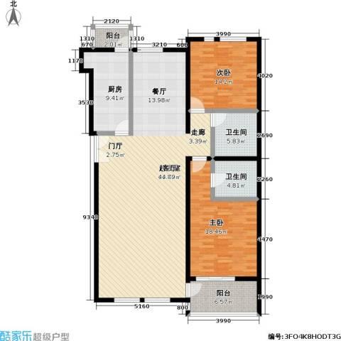 海开天秀花园二期2室0厅2卫1厨139.00㎡户型图