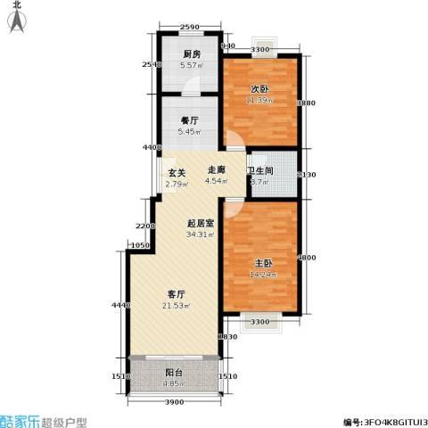 格瑞雅居2室0厅1卫1厨100.00㎡户型图