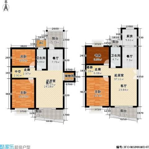 宝业馨康苑二期4室0厅2卫1厨184.00㎡户型图
