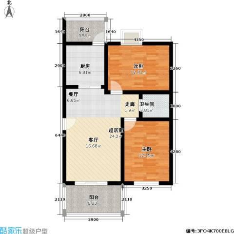 吉粮康城2室0厅1卫1厨88.00㎡户型图