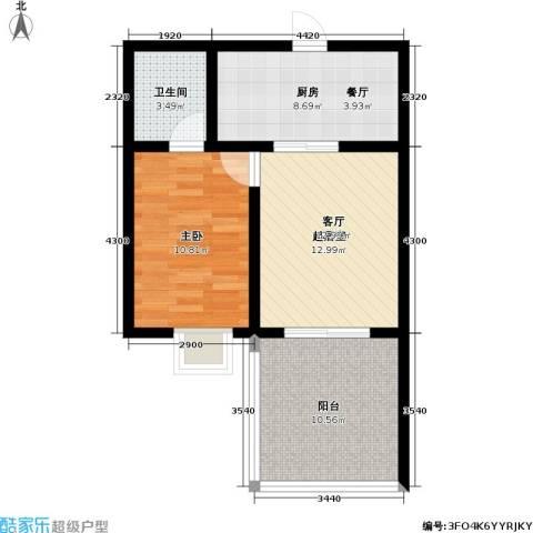 吉粮康城1室0厅1卫1厨68.00㎡户型图