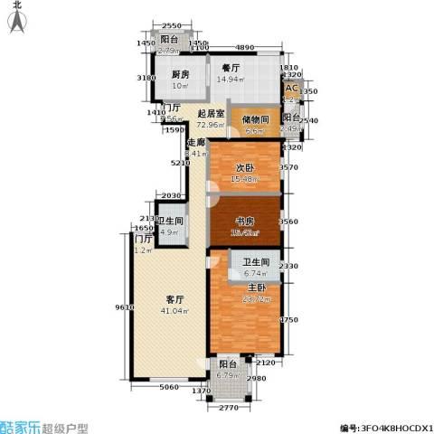 海开天秀花园二期3室0厅2卫1厨193.00㎡户型图