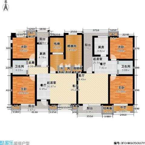 福渔园枫尚河院4室0厅2卫2厨156.57㎡户型图
