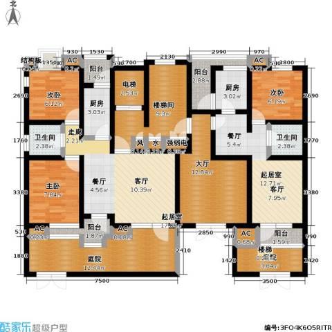 福渔园枫尚河院3室0厅2卫2厨111.80㎡户型图