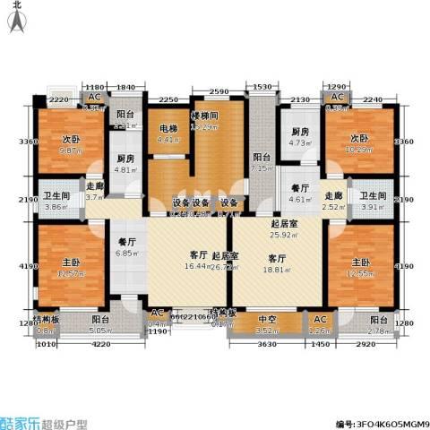 福渔园枫尚河院4室0厅2卫2厨160.38㎡户型图