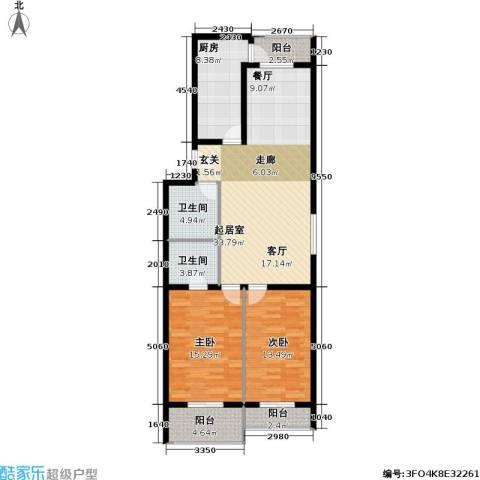 文津世家2室0厅2卫1厨126.00㎡户型图