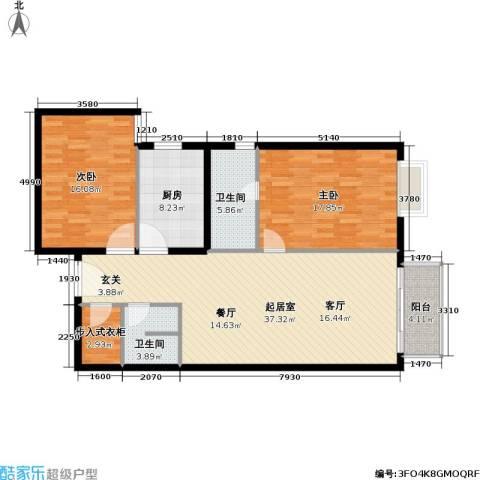 城市印象2室0厅2卫1厨108.00㎡户型图
