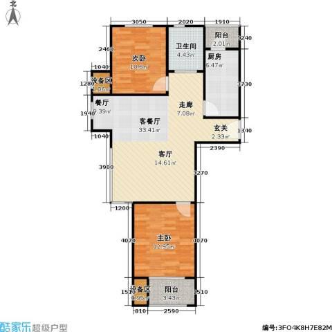 阿凯笛亚别苑2室1厅1卫1厨102.00㎡户型图
