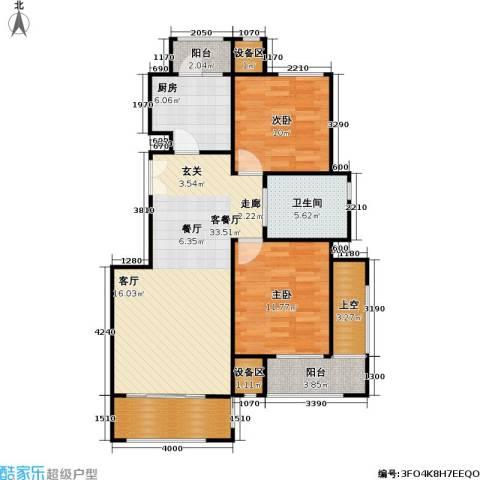 阿凯笛亚别苑2室1厅1卫1厨107.00㎡户型图