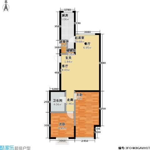 11station2室0厅1卫1厨88.00㎡户型图