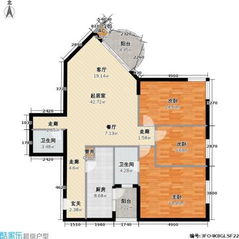 华源新第3室0厅2卫1厨123.00㎡户型图