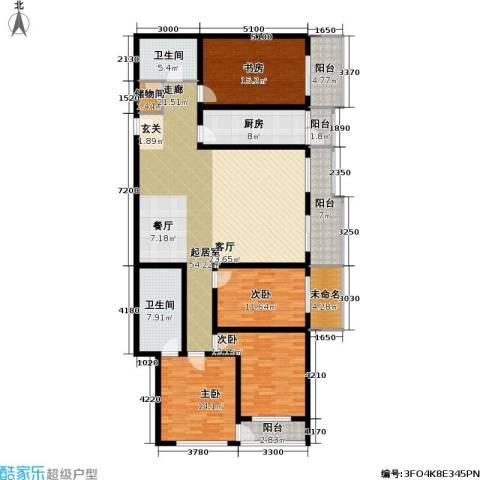 文津世家4室0厅2卫1厨216.00㎡户型图