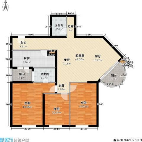 华源新第3室0厅2卫1厨122.00㎡户型图