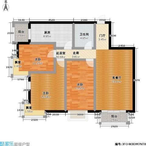 摩卡空间3室0厅1卫1厨131.00㎡户型图