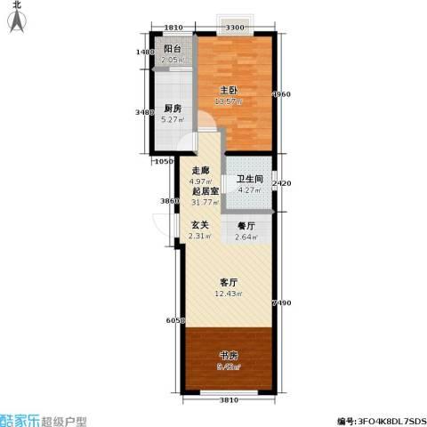 11station1室0厅1卫1厨80.00㎡户型图