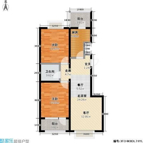 11station2室0厅1卫1厨92.00㎡户型图