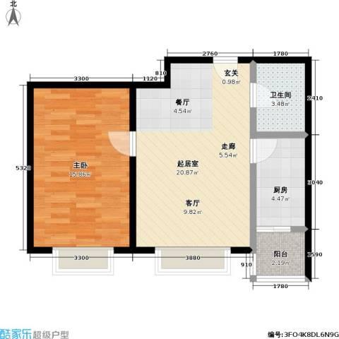 11station1室0厅1卫1厨67.00㎡户型图