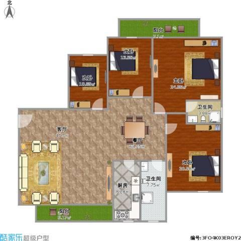 福邸雅苑4室1厅2卫1厨222.00㎡户型图