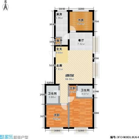 11station3室0厅2卫1厨105.00㎡户型图