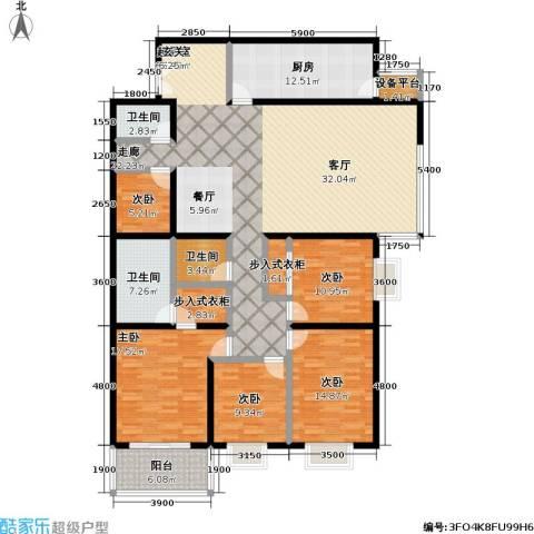 国展家园5室0厅3卫1厨233.00㎡户型图