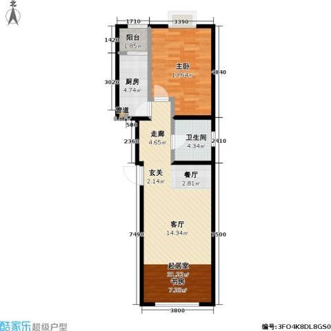 11station1室0厅1卫1厨81.00㎡户型图