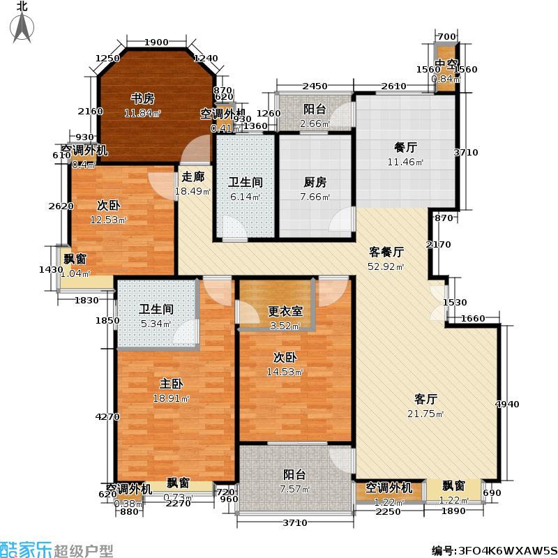 正阳世纪星城二期房型: 四房; 面积段: 136 -164 平方米; 户型