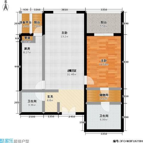 国展家园1室0厅2卫1厨90.00㎡户型图