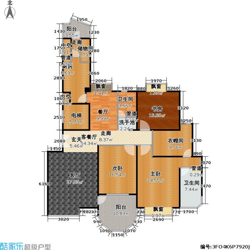 铂金富邑180.00㎡房型: 三房; 面积段: 180 -190 平方米; 户型