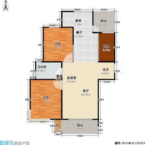 桃源兴城苑(二期)东块3室0厅1卫0厨112.24㎡户型图