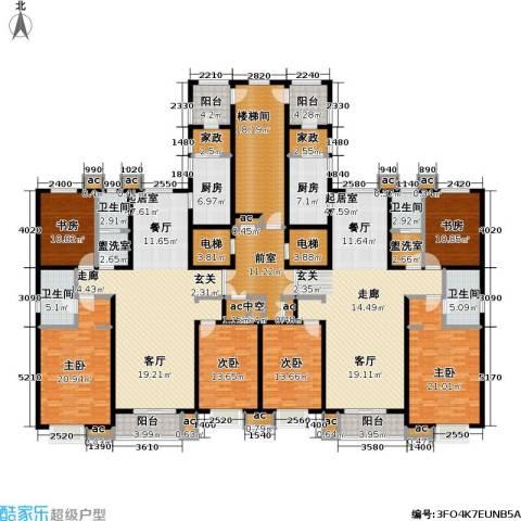 九号国际城6室0厅4卫2厨287.28㎡户型图