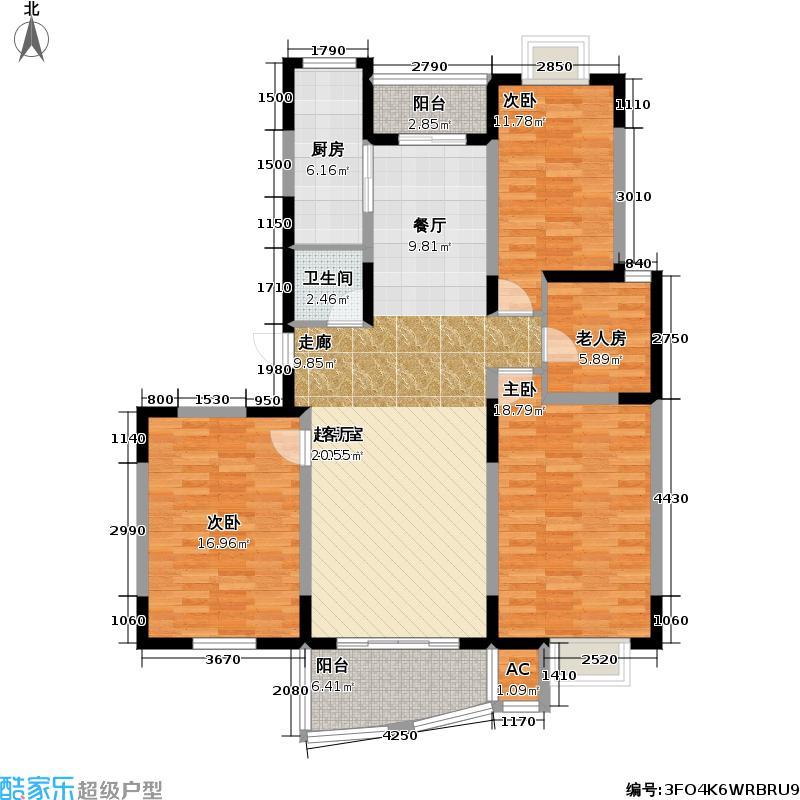 嘉和花苑四期房型户型4室1卫1厨