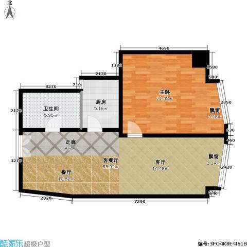 金隆基大厦1室1厅1卫1厨73.00㎡户型图