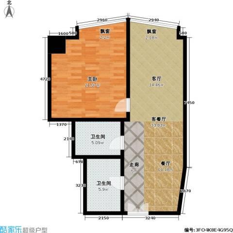 金隆基大厦1室1厅2卫0厨73.00㎡户型图