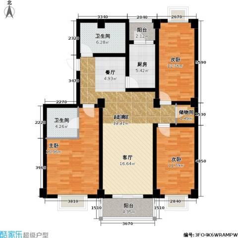 新明星花园三期3室0厅2卫1厨145.00㎡户型图