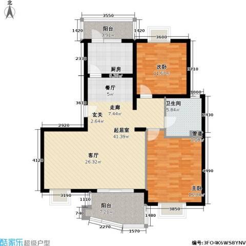 上海映象一期2室0厅1卫1厨131.00㎡户型图