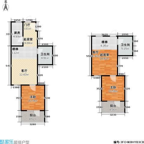 悦园(悦莱苑)2室0厅2卫1厨113.00㎡户型图