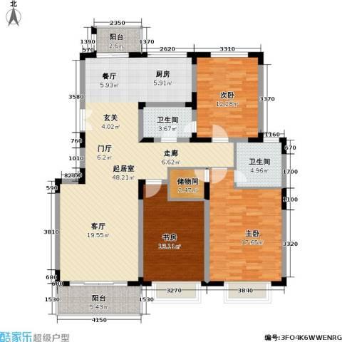 联鑫虹桥苑一期3室0厅2卫0厨156.00㎡户型图