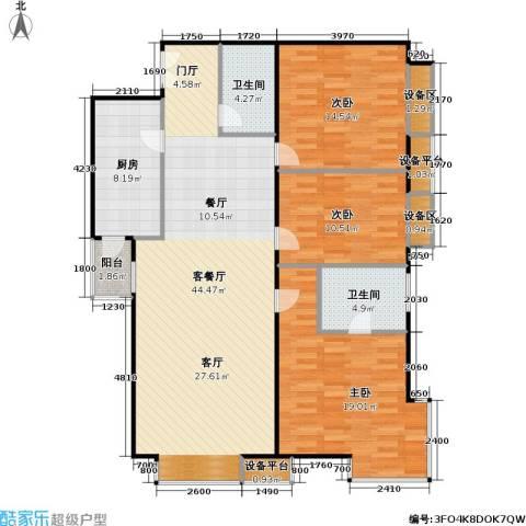 西成忆树3室1厅2卫1厨151.00㎡户型图