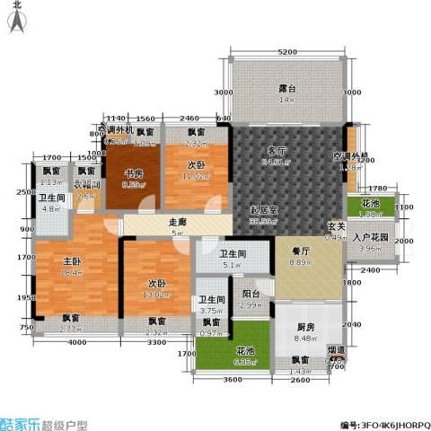 豪逸御华庭4室0厅3卫1厨146.04㎡户型图