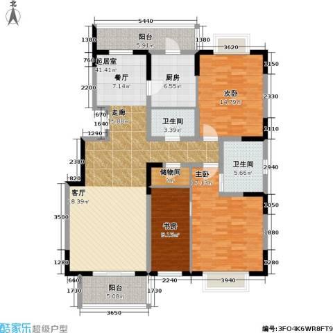 新明星花园三期3室0厅2卫1厨159.00㎡户型图