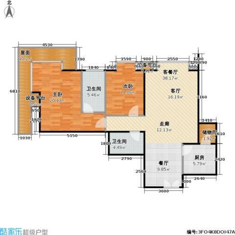西成忆树2室1厅2卫1厨133.00㎡户型图
