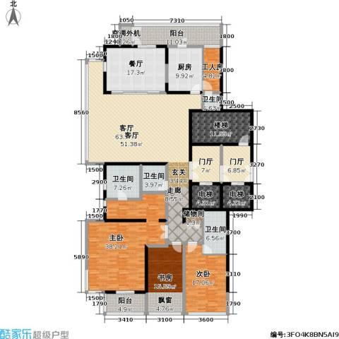 融泽府3室2厅4卫1厨276.00㎡户型图