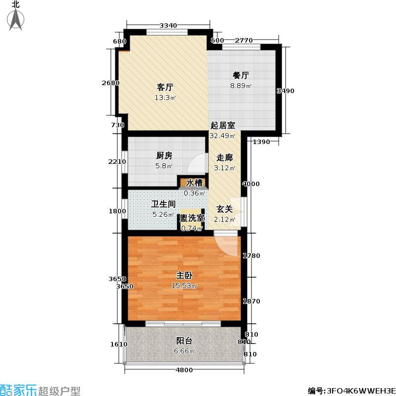 联鑫虹桥苑一期房型: 一房; 面积段: 69.05 -69.05 平方米; 户型