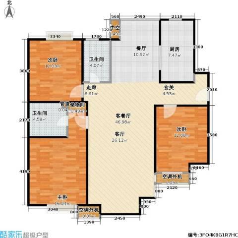 燕莎・后3室1厅2卫1厨139.00㎡户型图