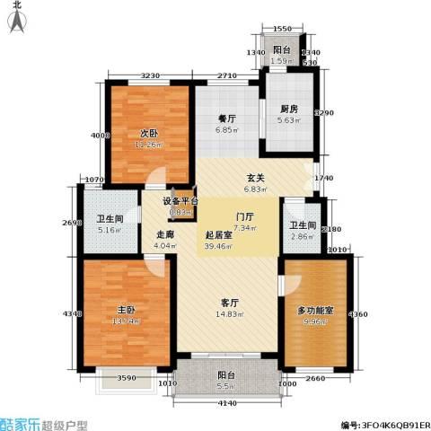 联鑫虹桥苑一期2室0厅2卫1厨137.00㎡户型图