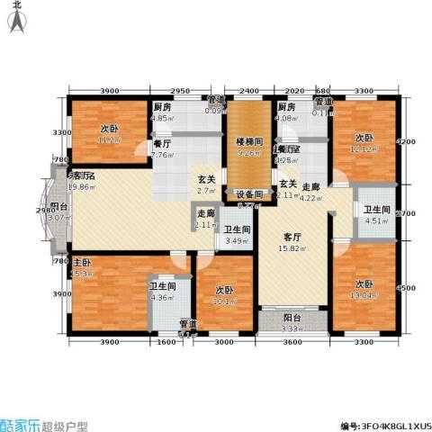 丰卉家园5室0厅3卫2厨232.00㎡户型图