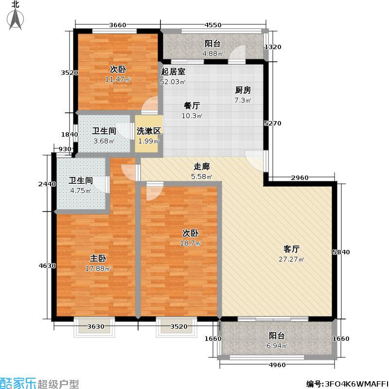 兴荣家园134.08㎡房型: 三房; 面积段: 134.08 -151.94 平方米; 户型